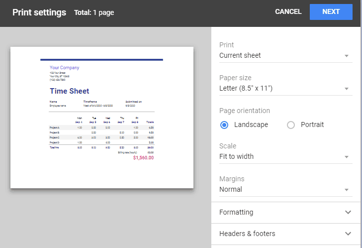 Google Chrome Prints Blank Pages from Google Sheets | Raised